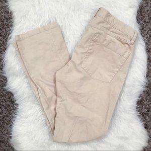 Size 30 cream corduroy J. Crew pants